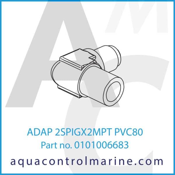 ADAP 2SPIGX2MPT PVC80