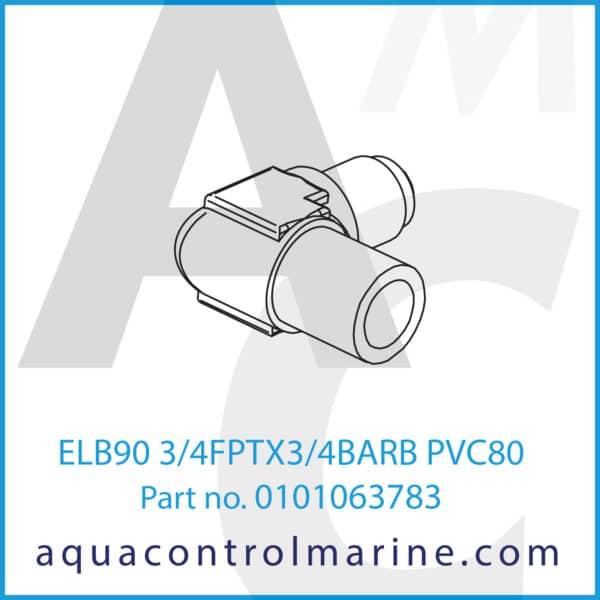 ELB90 3_4FPTX3_4BARB PVC80