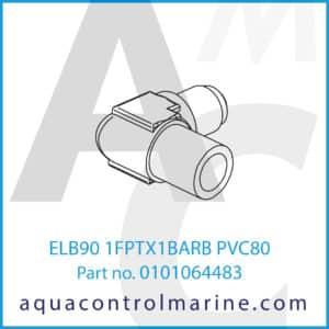 ELB90 1FPTX1BARB PVC80