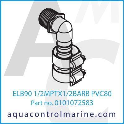 ELB90 1/2MPTX1/2BARB PVC80
