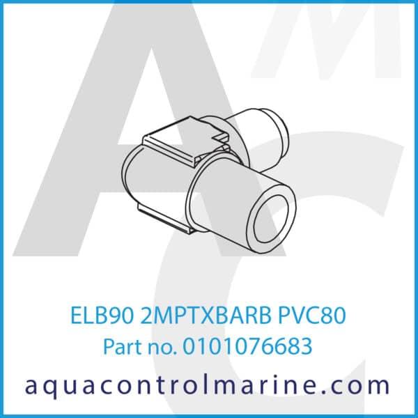 ELB90 2MPTXBARB PVC80