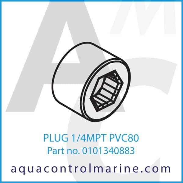 PLUG 1_4MPT PVC80