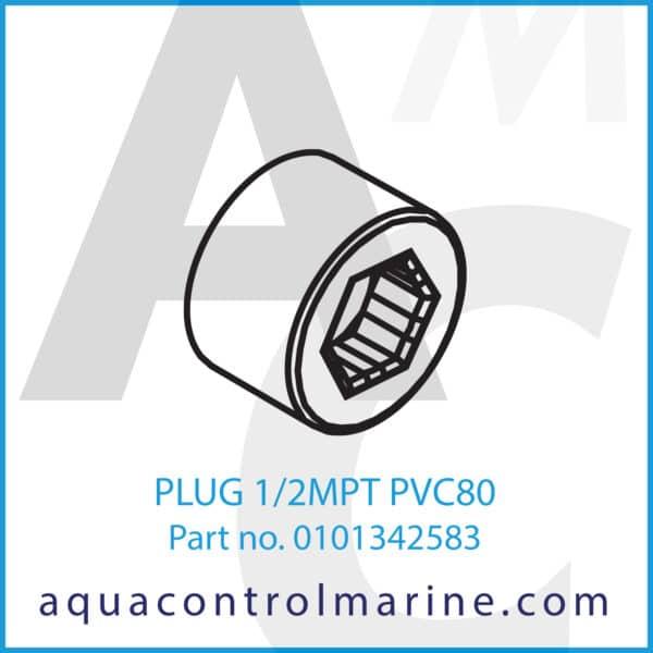 PLUG 1_2MPT PVC80