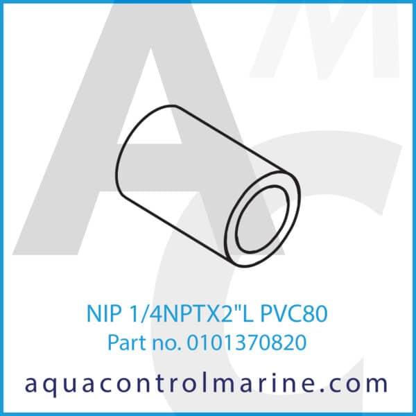 NIP 1_4NPTX2inchL PVC80