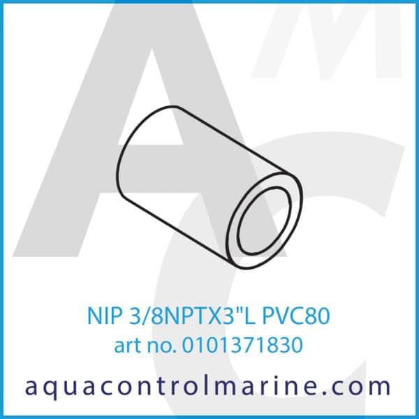 NIP 3_8NPTX3inchL PVC80