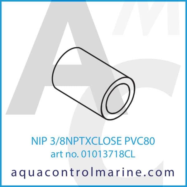 NIP 3_8NPTXCLOSE PVC80