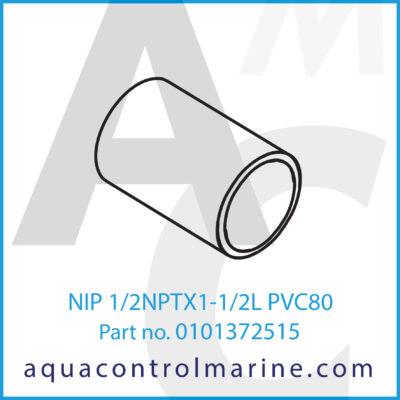 NIP 1/2NPTX1-1/2L PVC80