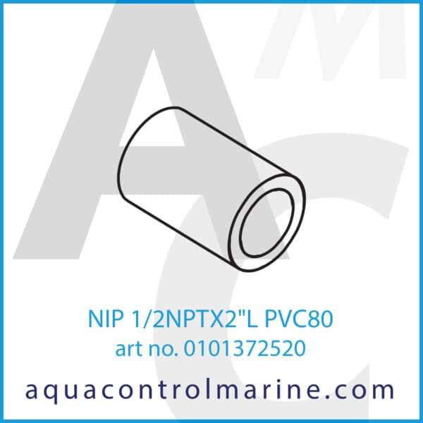 NIP 1_2NPTX2inchL PVC80