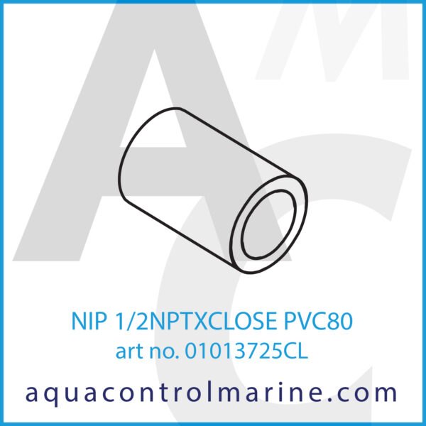 NIP 1_2NPTXCLOSE PVC80