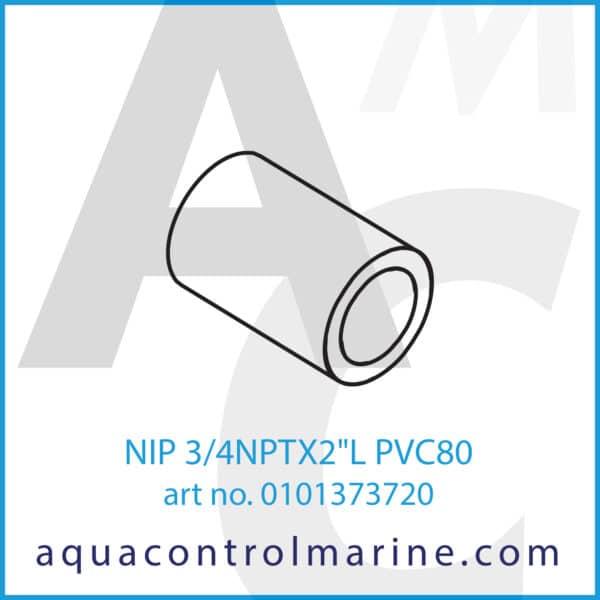 NIP 3_4NPTX2inchL PVC80