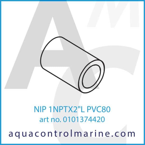 NIP 1NPTX2inchL PVC80