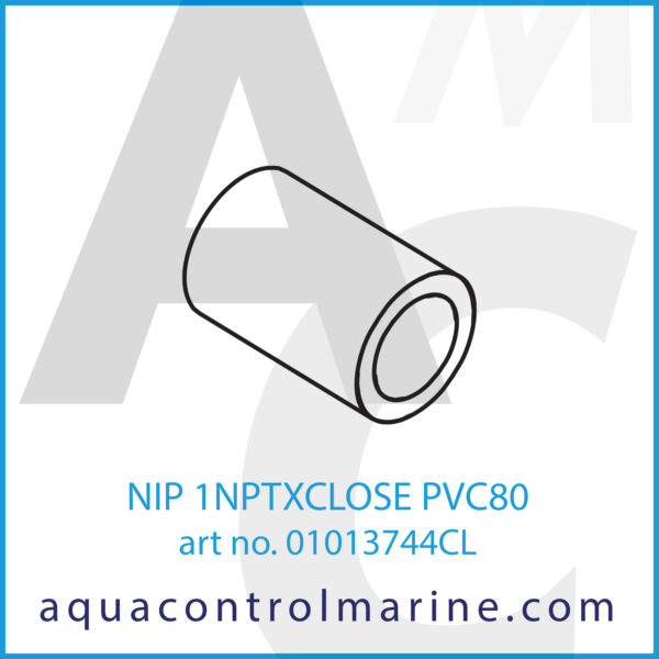 NIP 1NPTXCLOSE PVC80