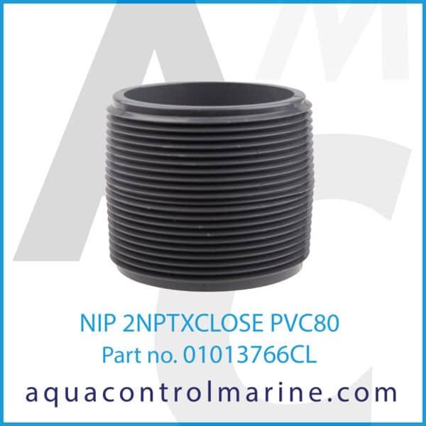 NIP 2NPTXCLOSE PVC80