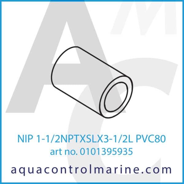 NIP 1-1_2NPTXSLX3-1_2L PVC80