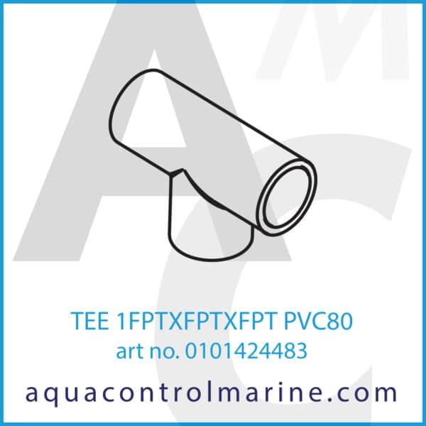 TEE 1FPTXFPTXFPT PVC80