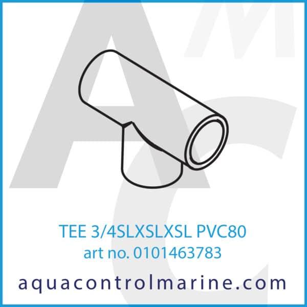 TEE 3_4SLXSLXSL PVC80