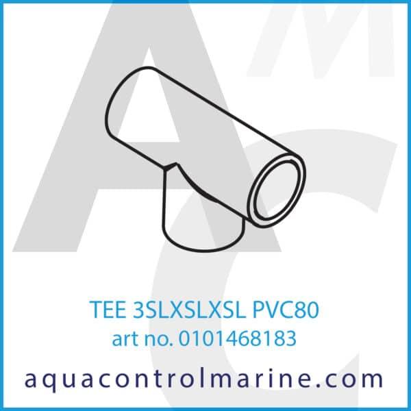 TEE 3SLXSLXSL PVC80