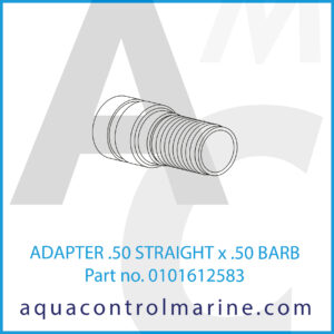 ADAPTER .50 STRAIGHT x .50 BARB
