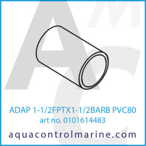 ADAP 1-1_2FPTX1-1_2BARB PVC80