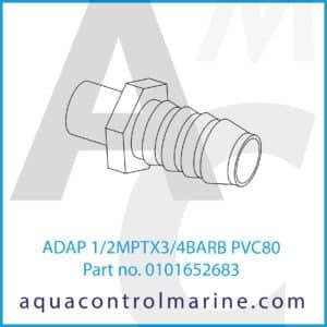 ADAP 1_2MPTX3_4BARB PVC80
