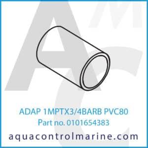 ADAP 1MPTX3_4BARB PVC80