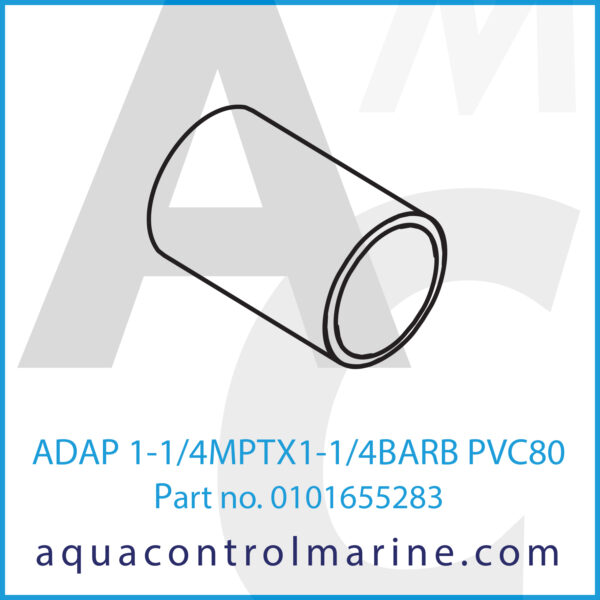 ADAP 1-1_4MPTX1-1_4BARB PVC80