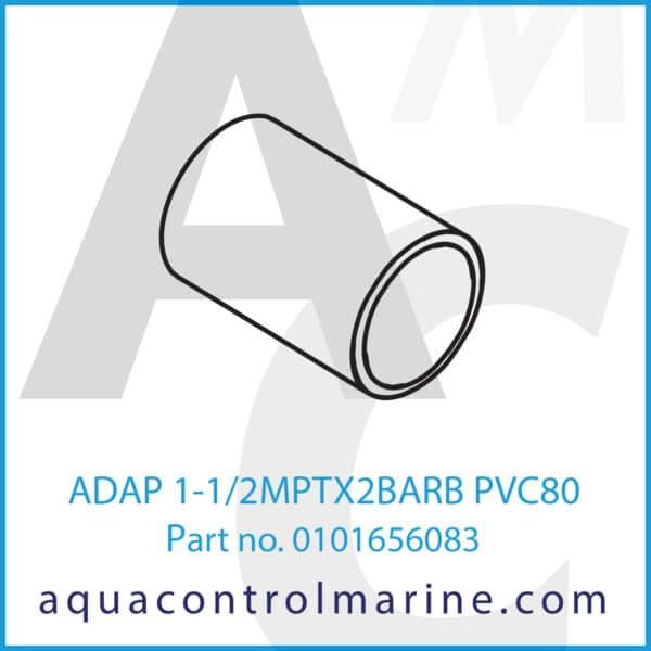 ADAP 1-1_2MPTX2BARB PVC80