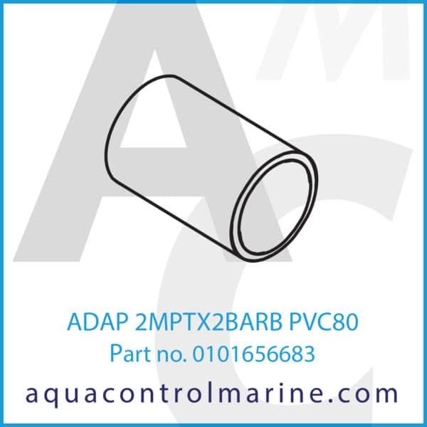 ADAP 2MPTX2BARB PVC80