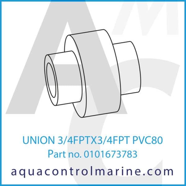 UNION 3_4FPTX3_4FPT PVC80