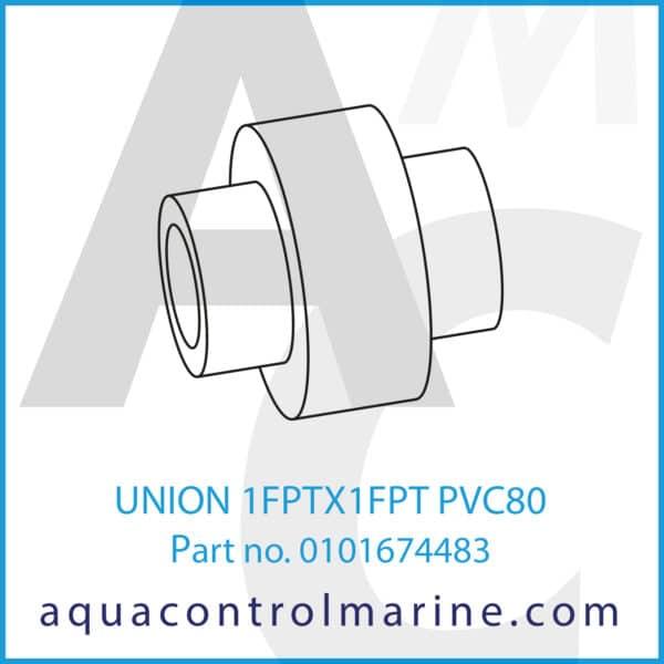 UNION 1FPTX1FPT PVC80