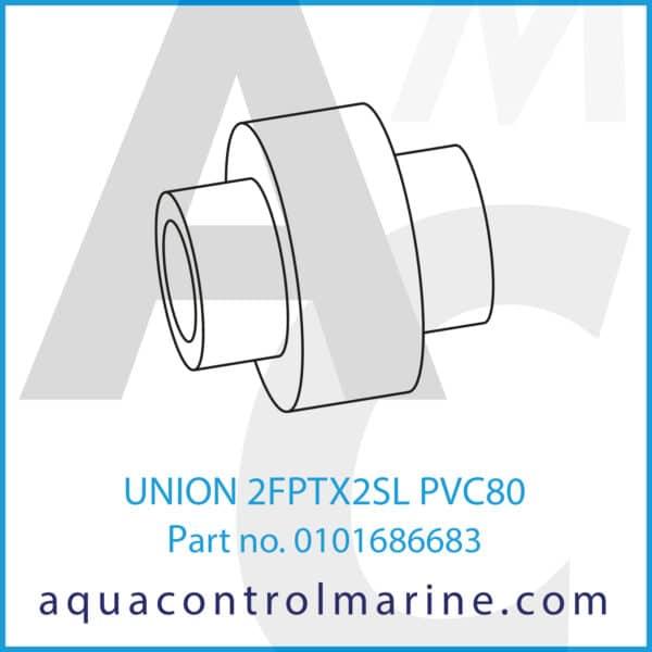 UNION 2FPTX2SL PVC80