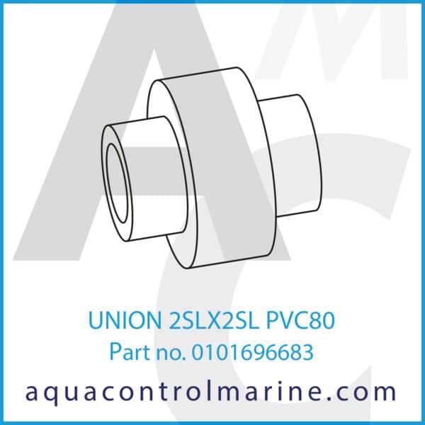 UNION 2SLX2SL PVC80