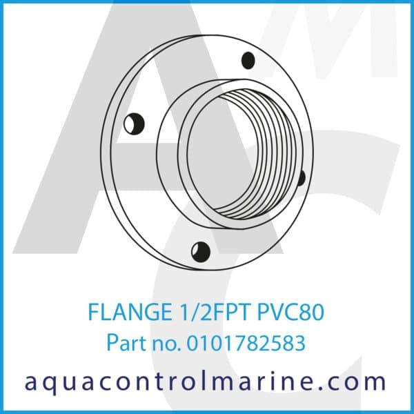 FLANGE 1_2FPT PVC80