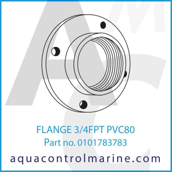 FLANGE 3_4FPT PVC80