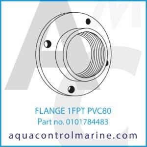 FLANGE 1FPT PVC80