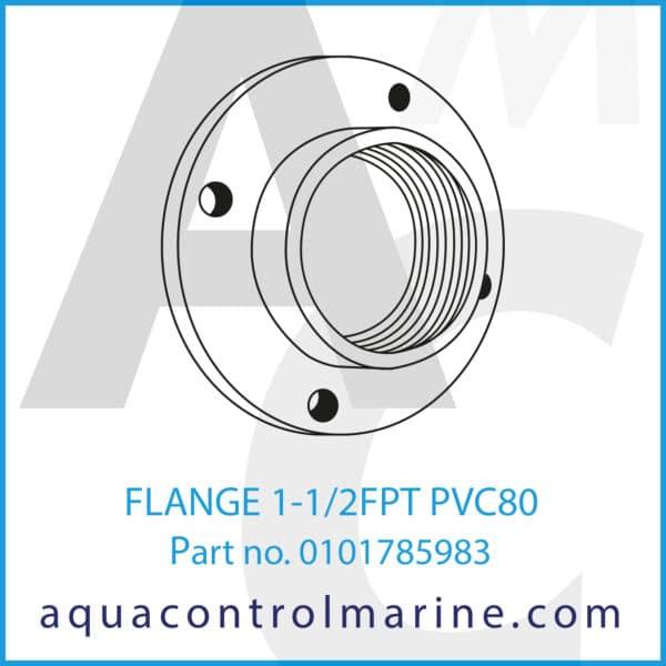FLANGE 1-1_2FPT PVC80
