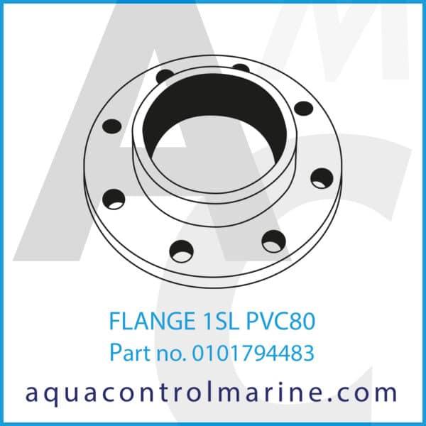 FLANGE 1SL PVC80