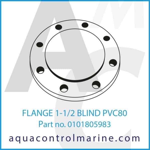 FLANGE 1-1_2 BLIND PVC80