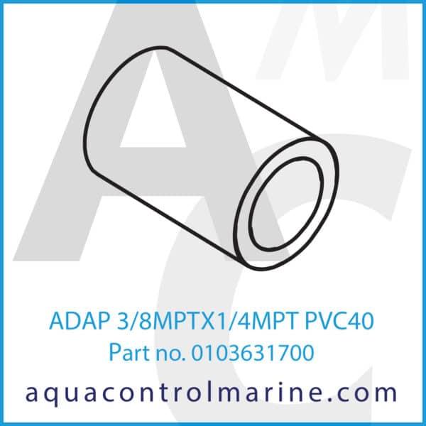 ADAP 3_8MPTX1_4MPT PVC40