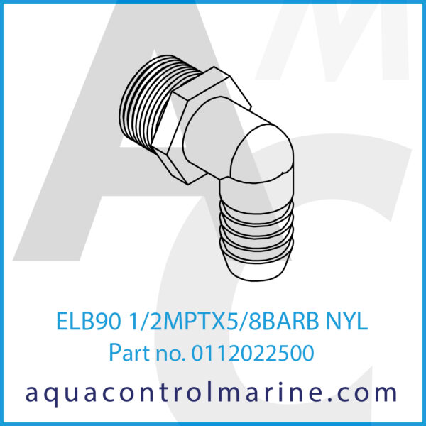 ELB90 1_2MPTX5_8BARB NYL
