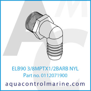 ELB90 3_8MPTX1_2BARB NYL