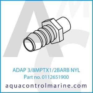 ADAP 3_8MPTX1_2BARB NYL