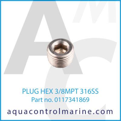 PLUG HEX 3/8MPT 316SS