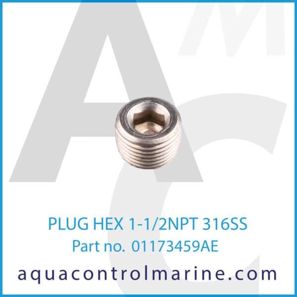 PLUG HEX 1-1_2NPT 316SS