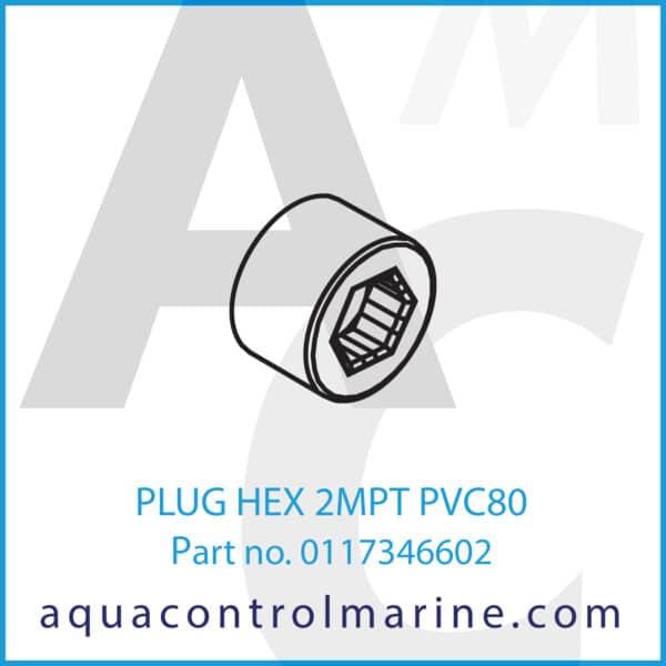 PLUG HEX 2MPT PVC80