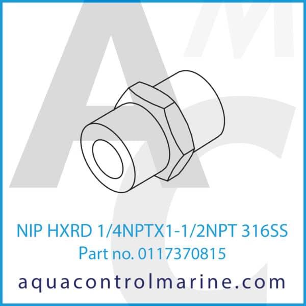 NIP HXRD 1_4NPTX1-1_2NPT 316SS