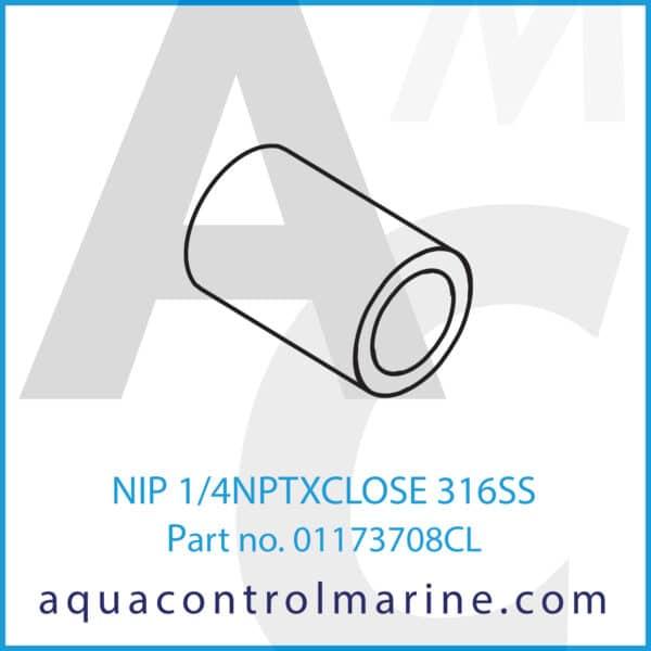 NIP 1_4NPTXCLOSE 316SS