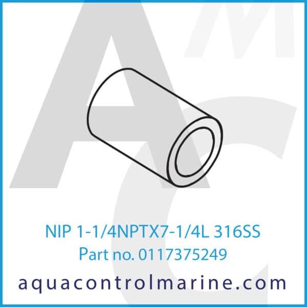 NIP 1-1_4NPTX7-1_4L 316SS