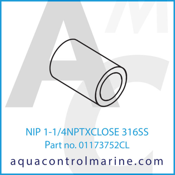 NIP 1-1_4NPTXCLOSE 316SS