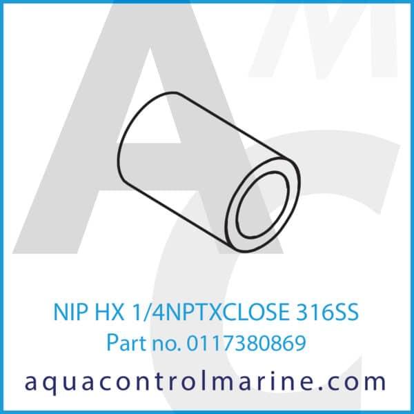 NIP HX 1_4NPTXCLOSE 316SS